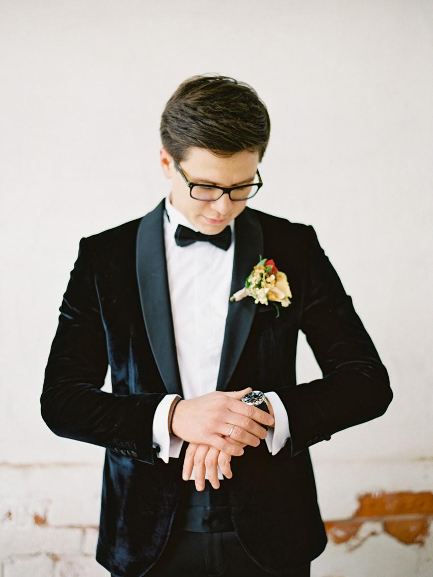 Velvet Groom's Suit