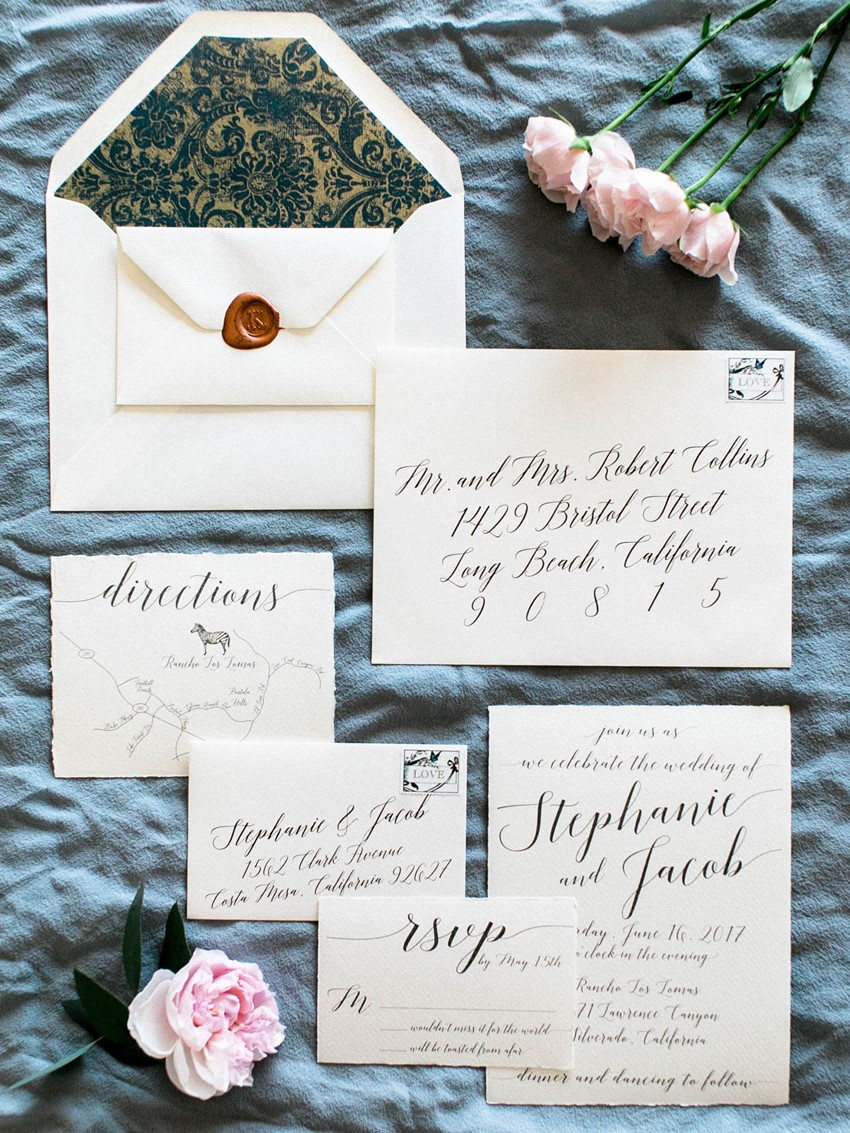 Calligraphy Wedding Stationery