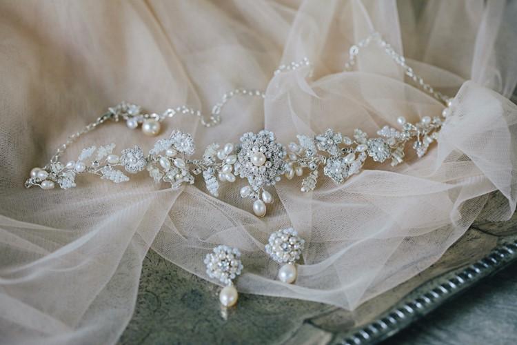 Bridal Choker & Earrings Edera Jewelry 2018 Tesora Collection
