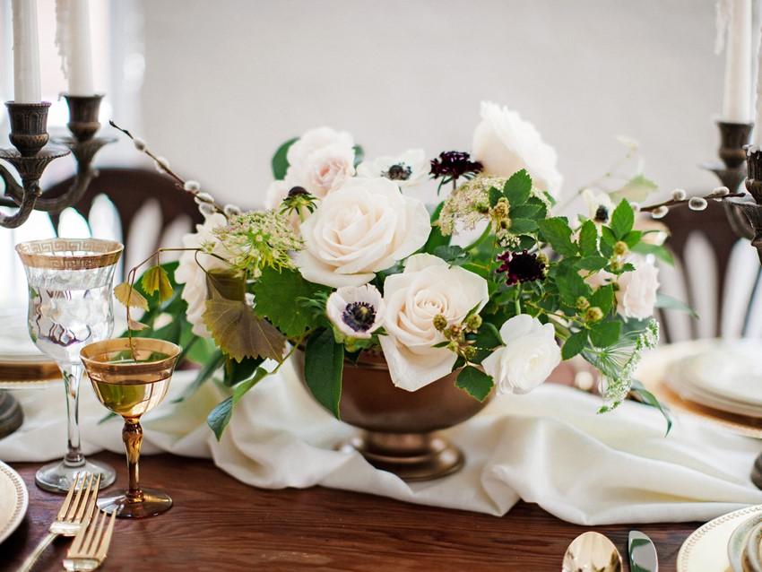 Vintage Wedding Floral Centerpiece