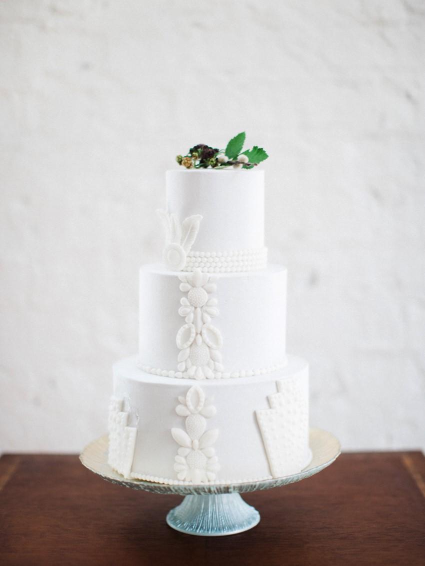 Modern Art Deco Wedding Cake