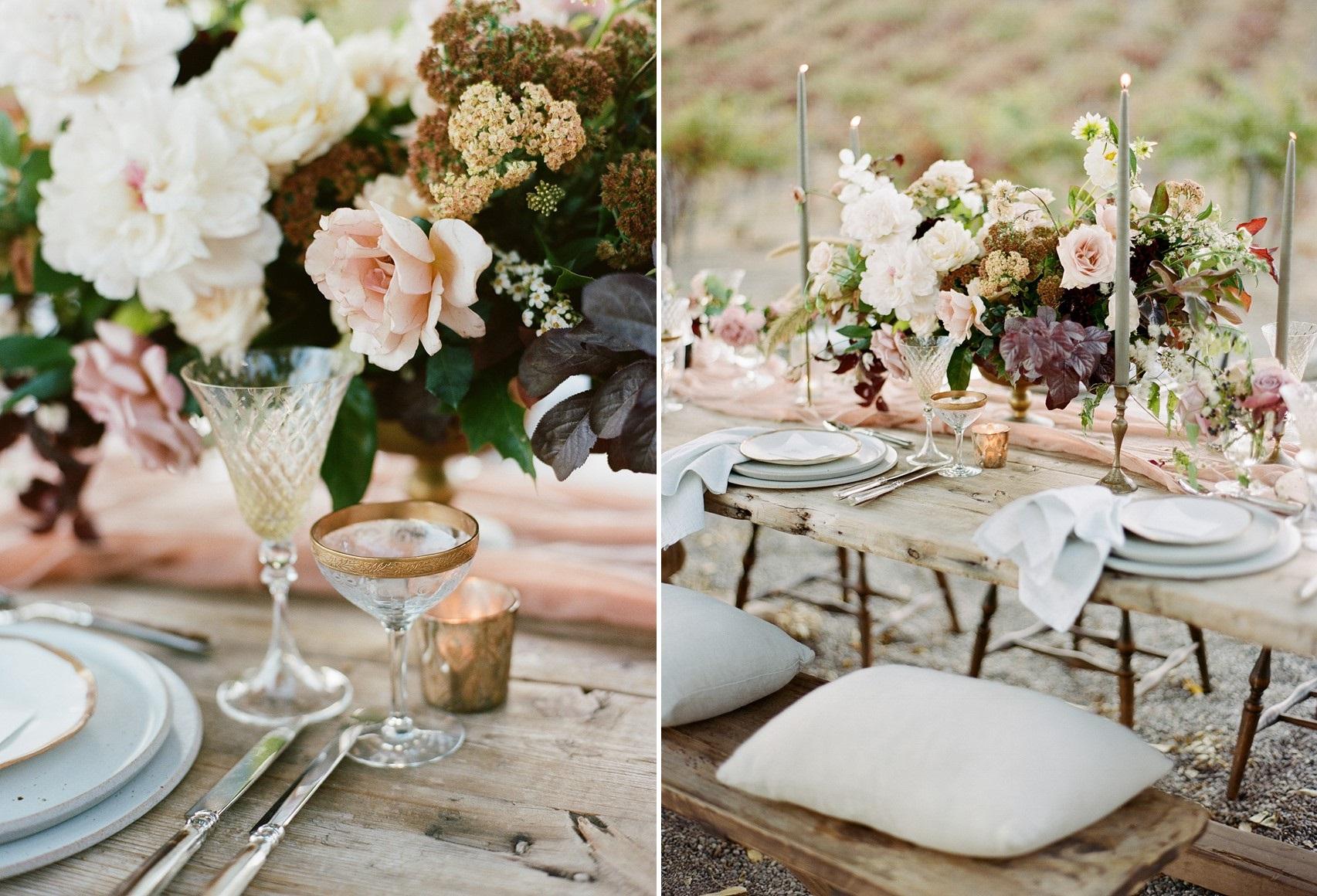Modern Vintage Wedding Table