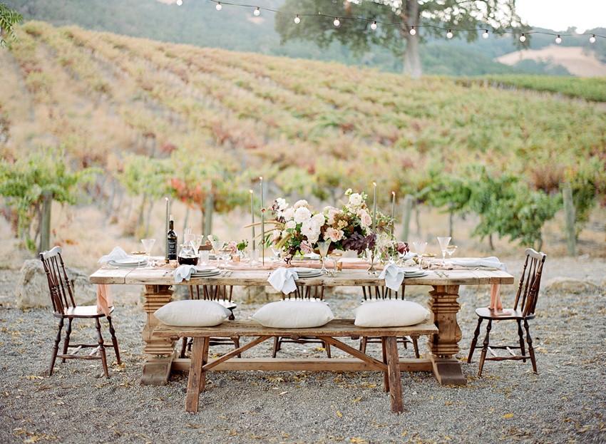 Romantic Modern Vintage Wedding Table