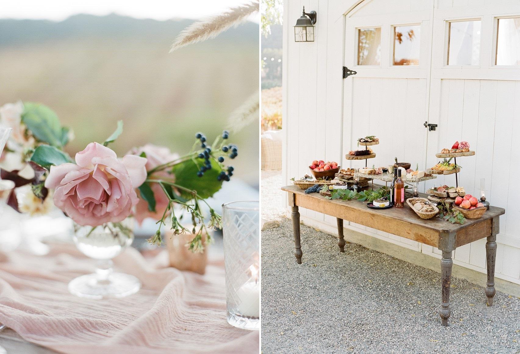 Vineyard Wedding Food
