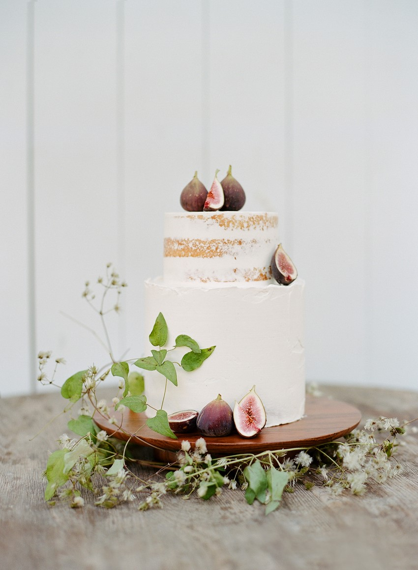 Fig Topped Wedding Cake