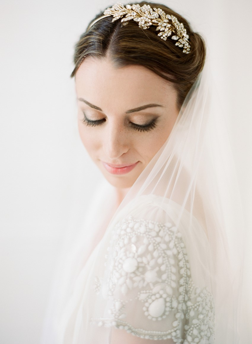 Modern Vintage Bridal Tiara & Veil