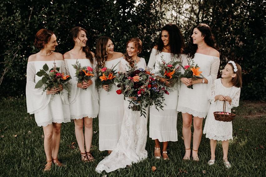 Boho Vintage Bride & Bridesmaids