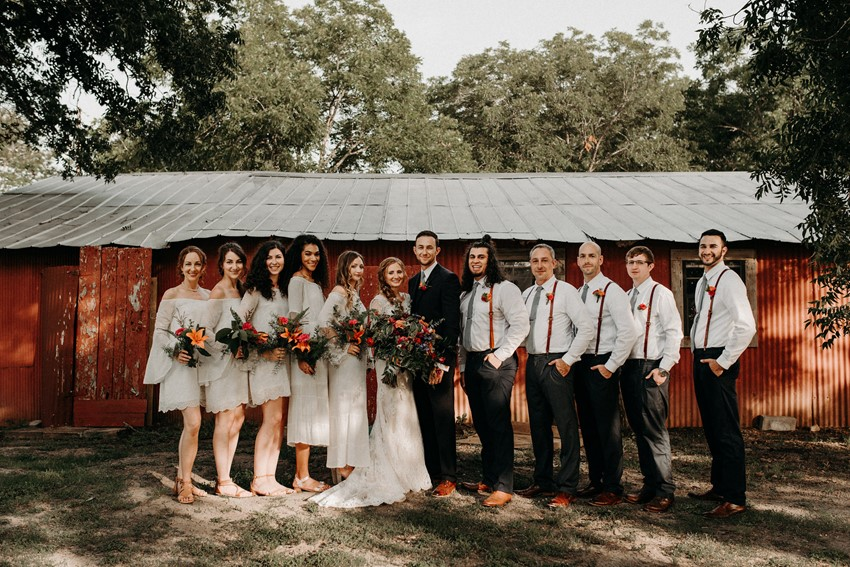 Boho Vintage Wedding Party