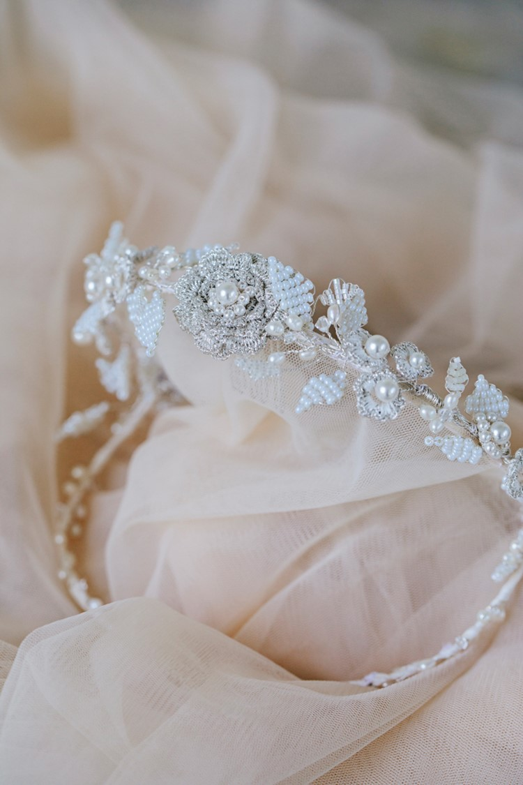 Vintage Bridal Headpiece Edera Jewelry 2018 Tesora Collection