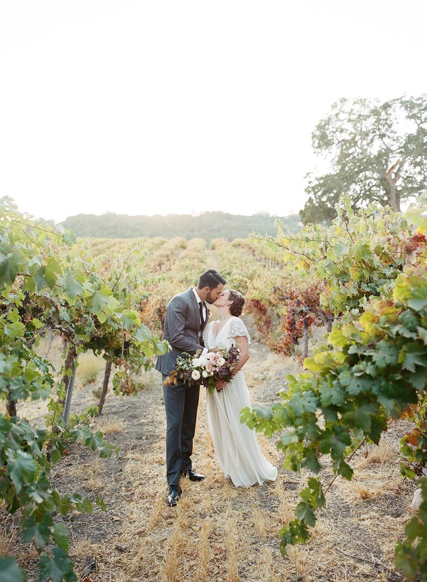 Modern Vintage Vineyard Wedding