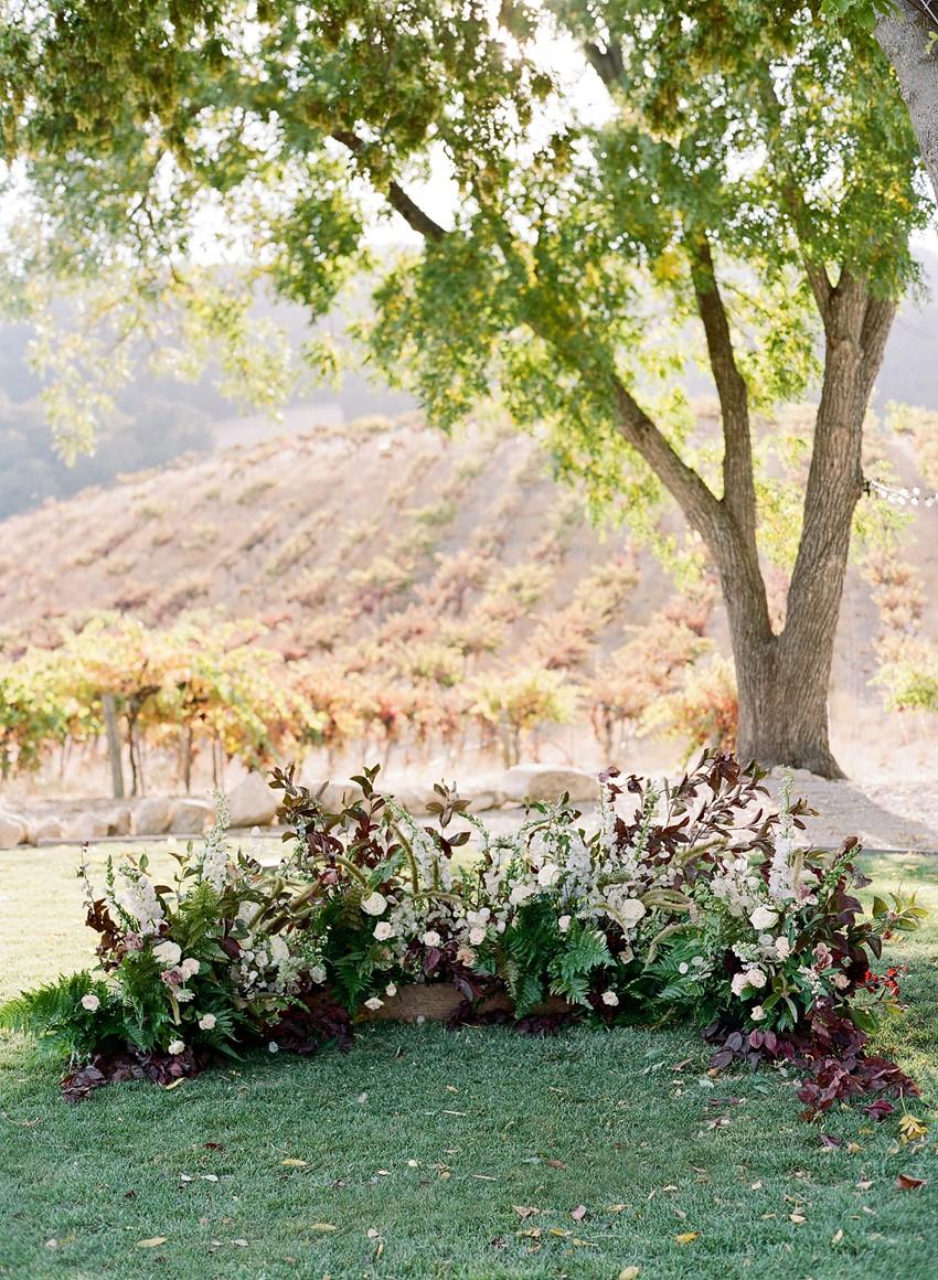 Floral Outdoor Wedding Altar Decor