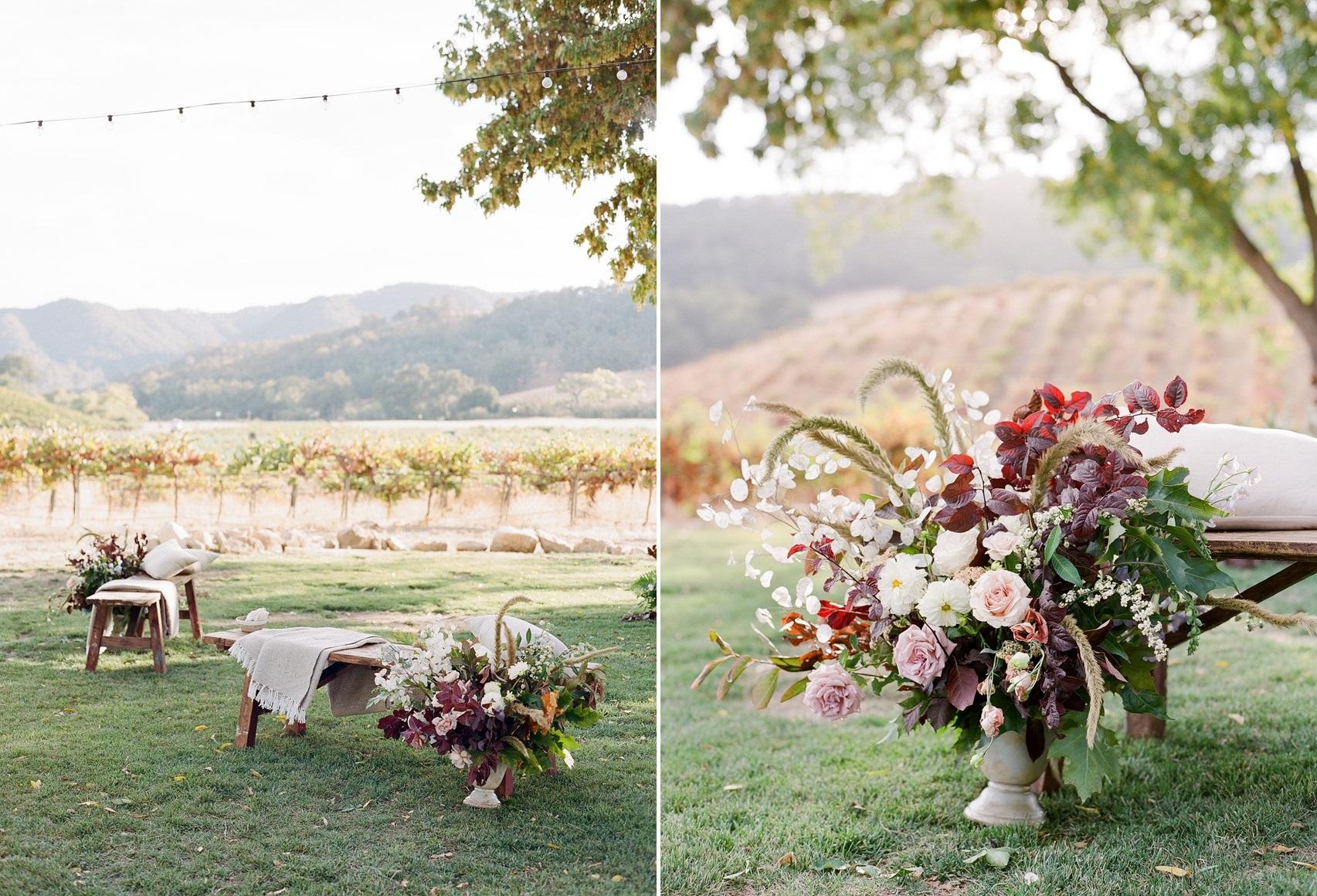Floral Outdoor Wedding Ceremony Decor