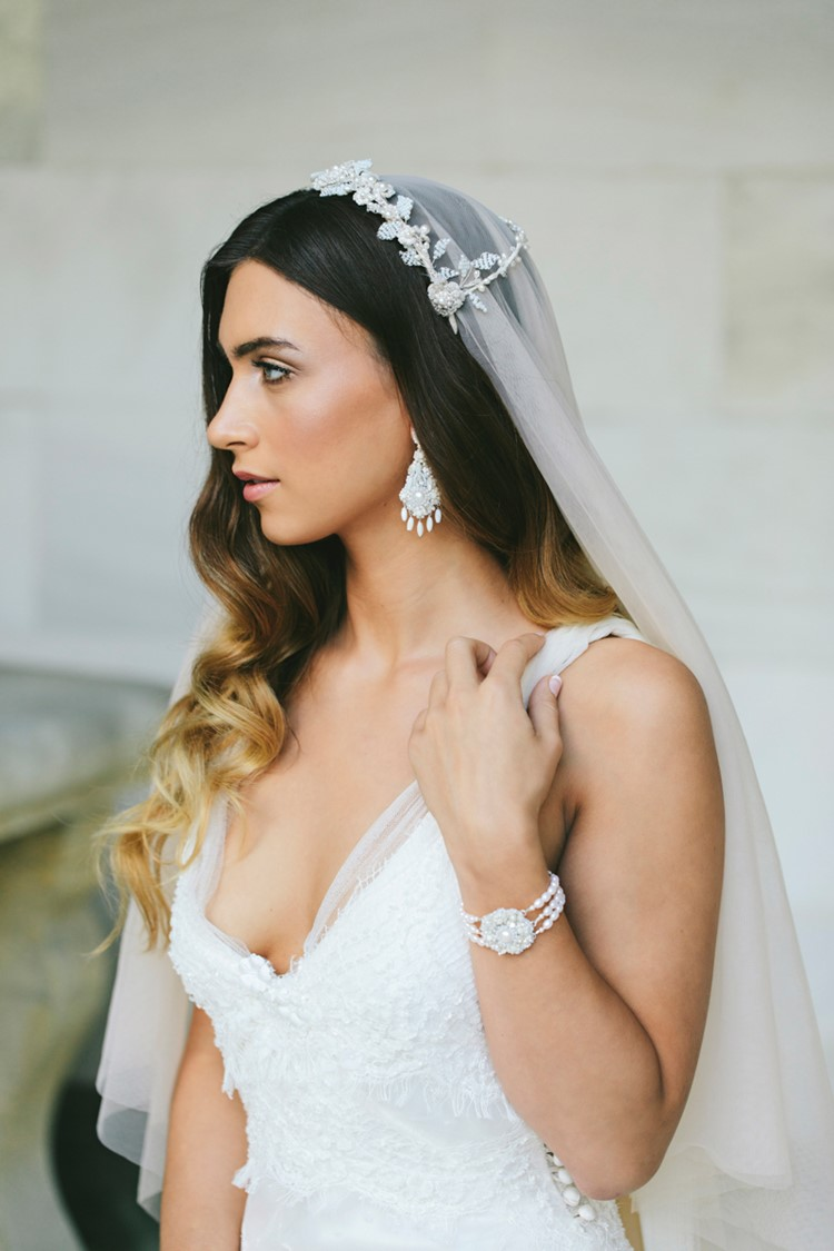 Bridal Veil & Headpiece Edera Jewelry 2018 Tesora Collection