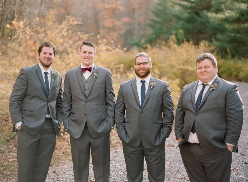 Pink & Grey Winter Wedding