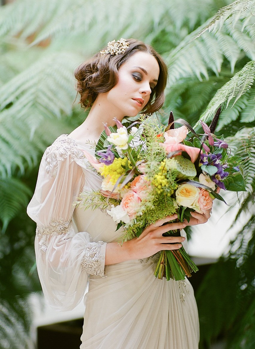 Tropical Art Nouveau Bridal Bouquet