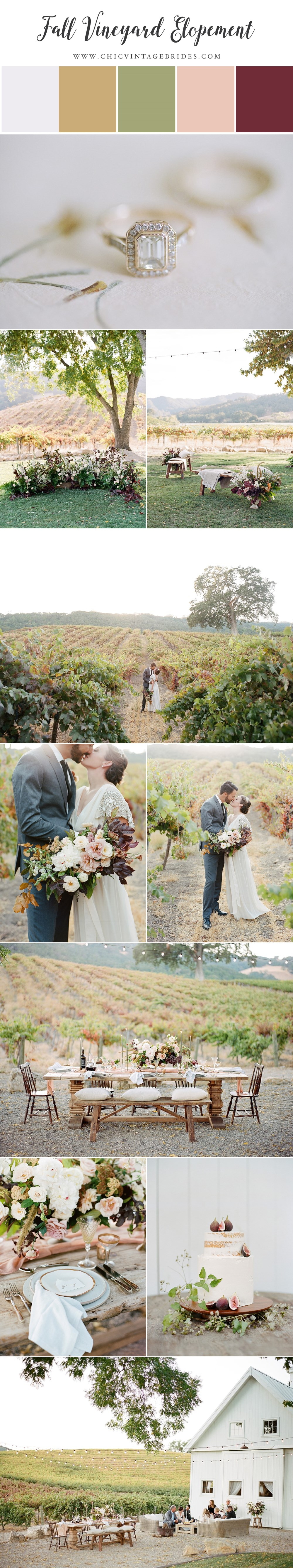 Modern Vintage Fall Elopement at HammerSky Vineyards