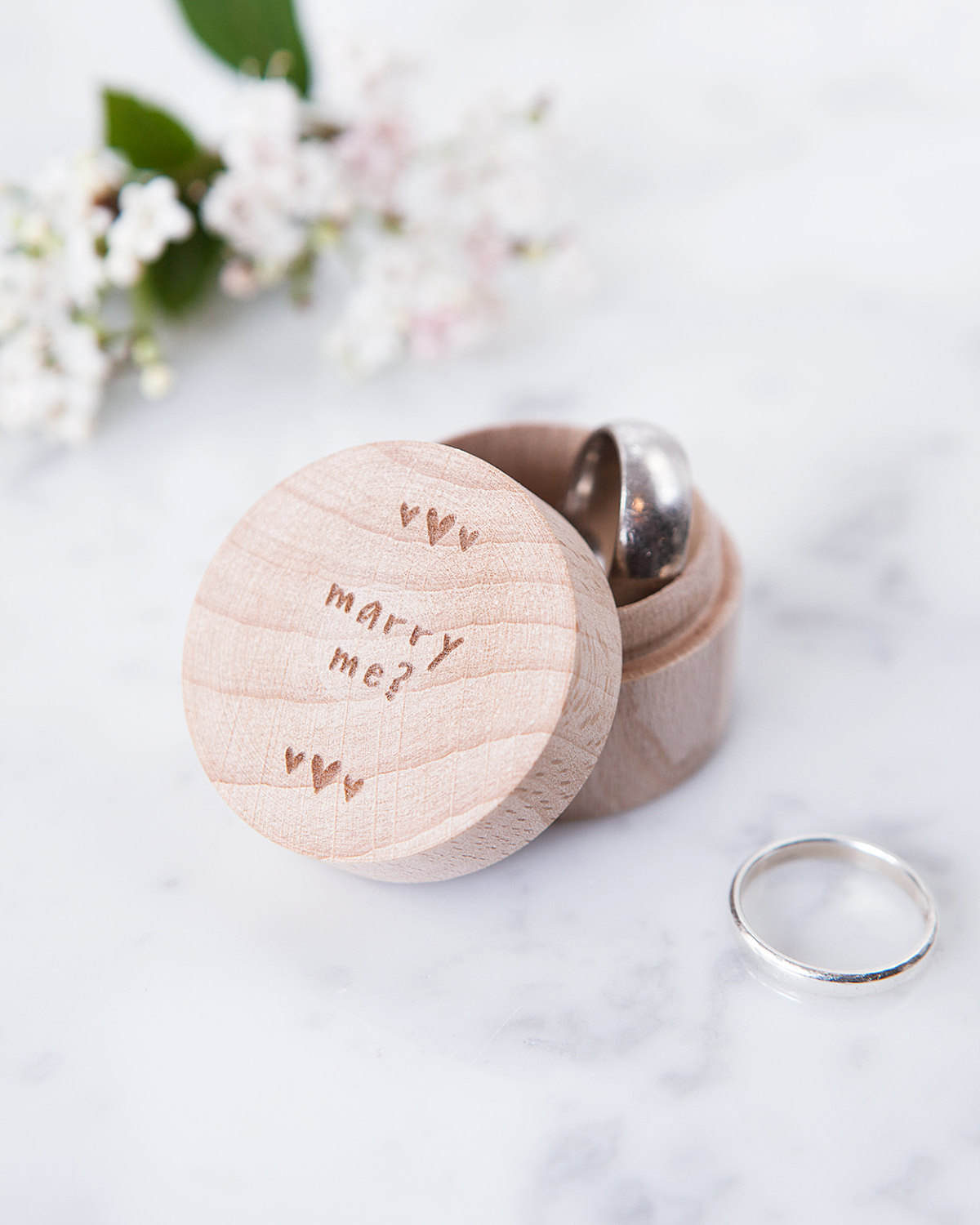 Marry Me Engraved Ring Box