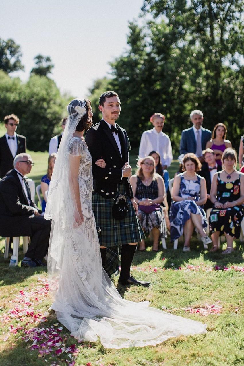 Outdoor Wedding Handfasting Ceremony
