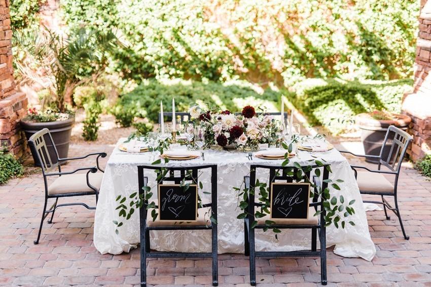 Courtyard Wedding Table