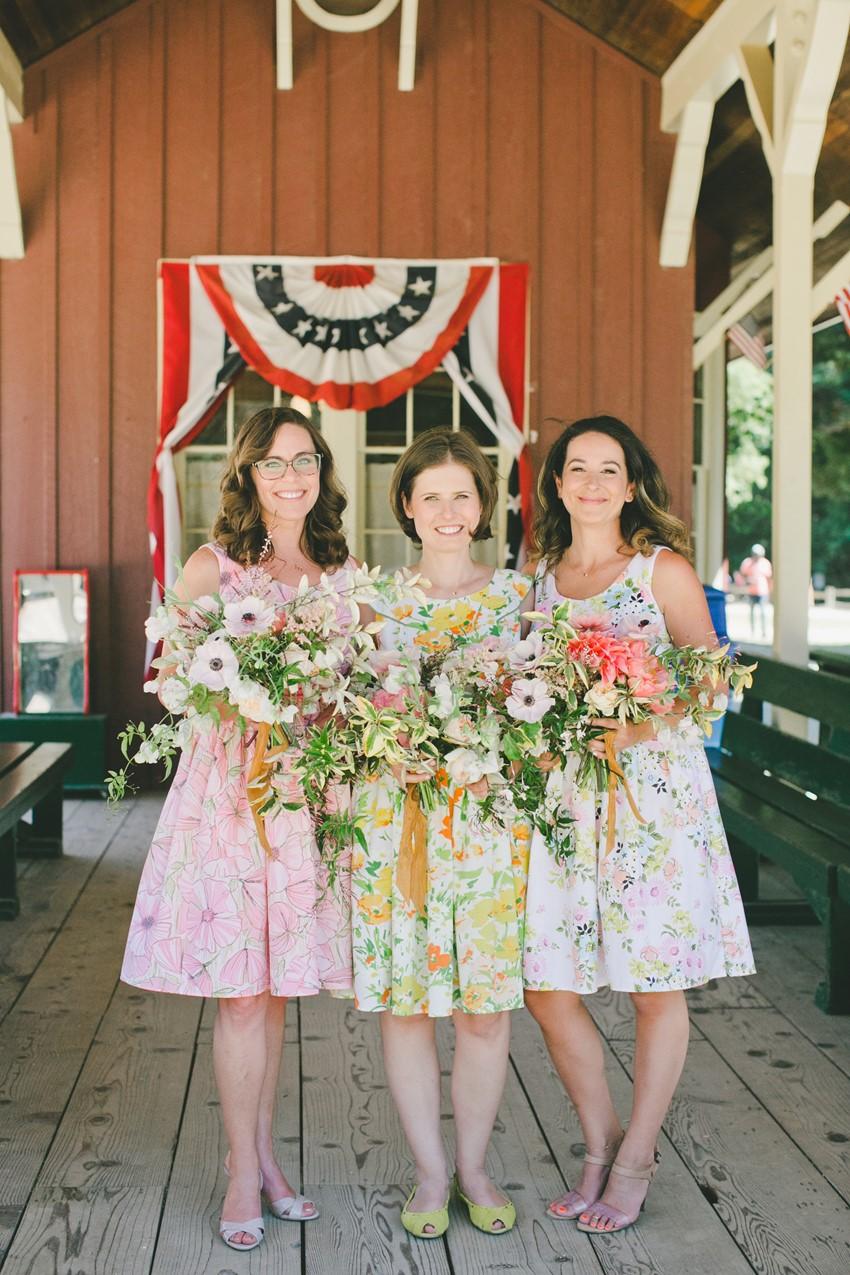 Floral Vintage Bridesmaids
