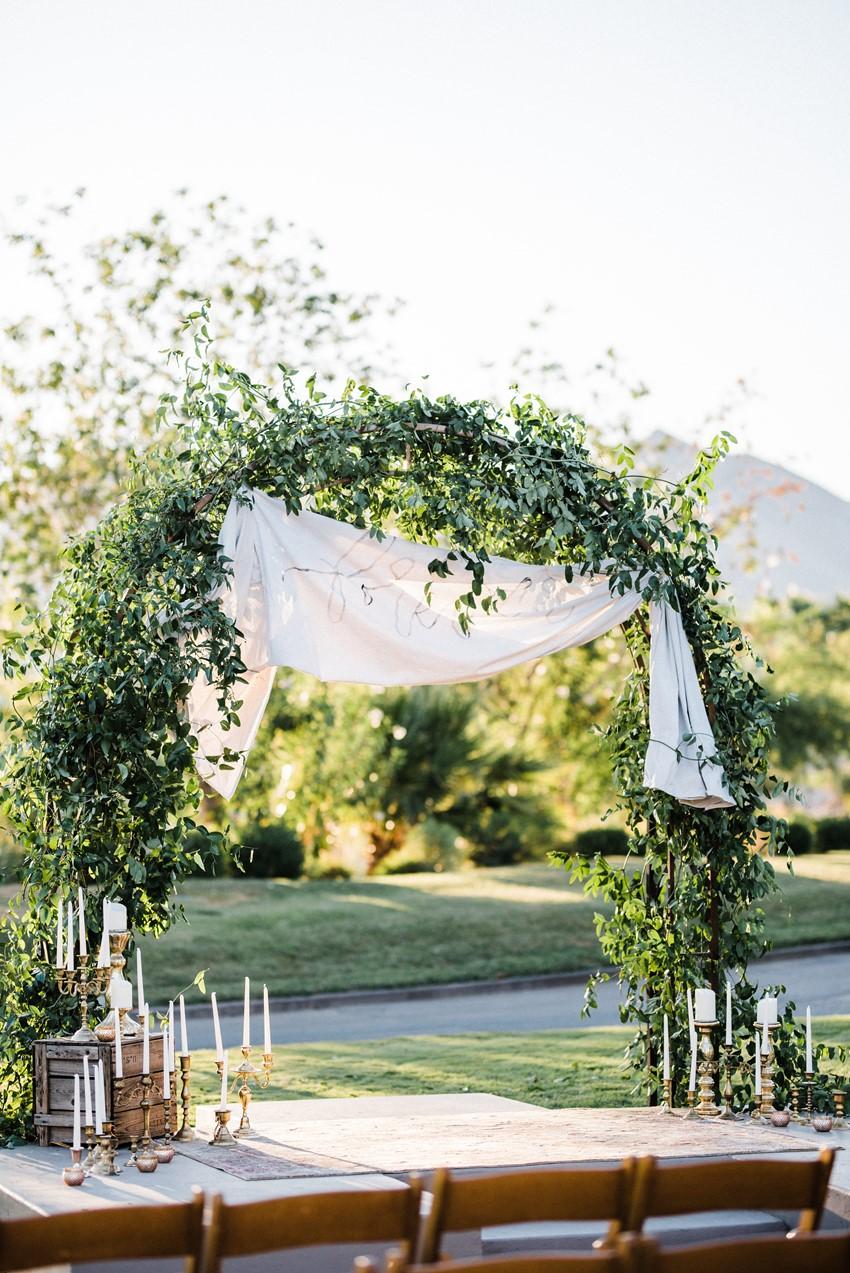 Garden Wedding Aisle Arch