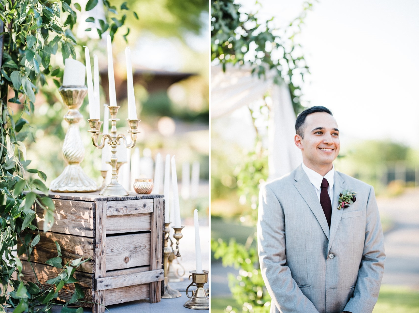Garden Wedding Ceremony Decor