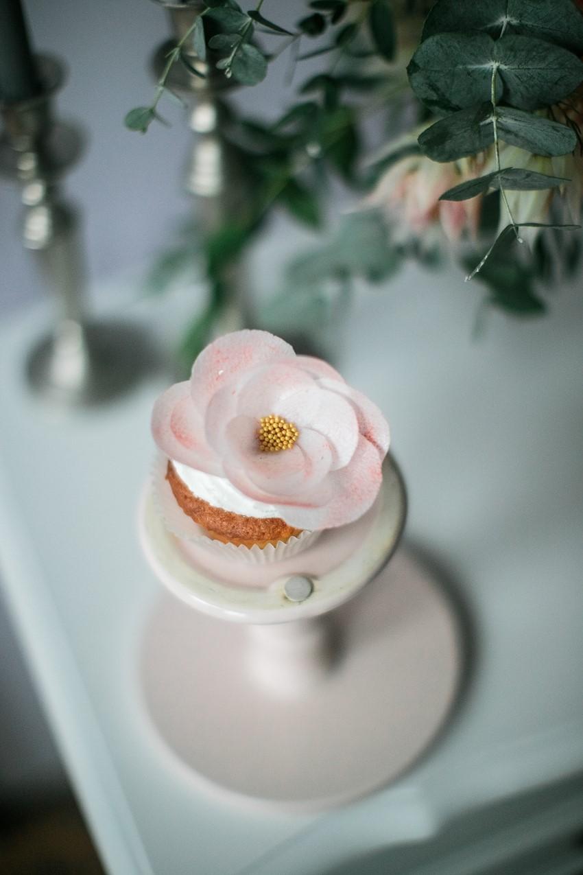 Flower Topped Bridal Cake