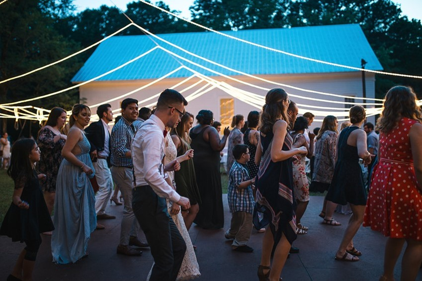 Backyard Wedding Reception Dancing