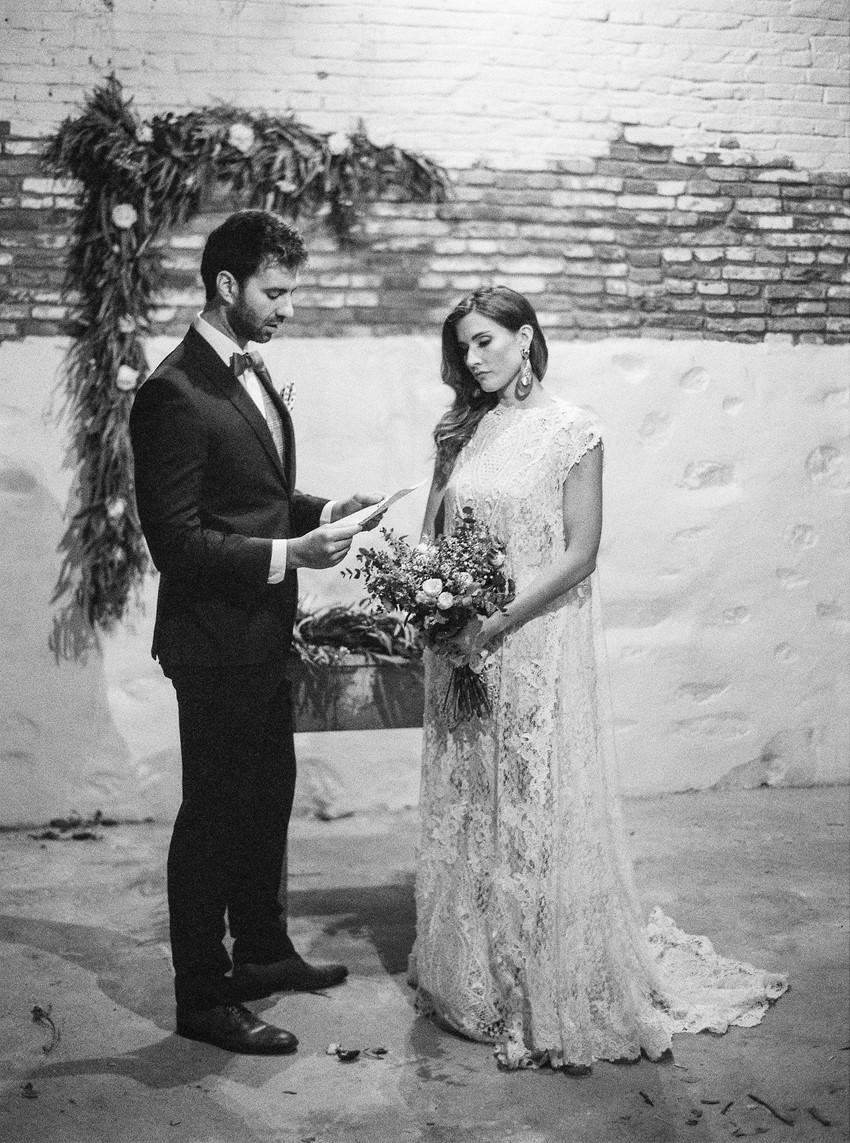 Industrial Vintage Wedding Ceremony