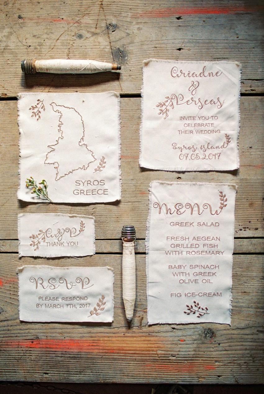 Cotton Wedding Invitation