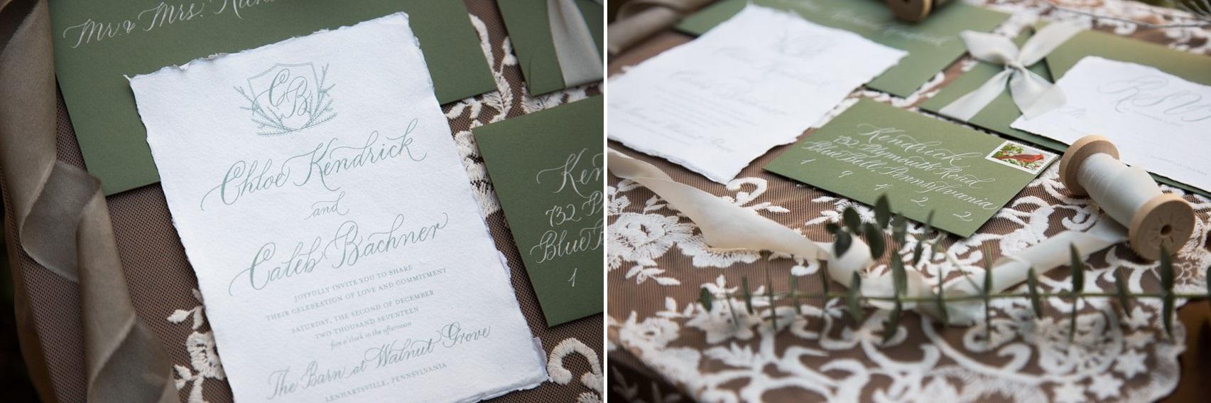 Fine Art Calligraphy Wedding Invitation