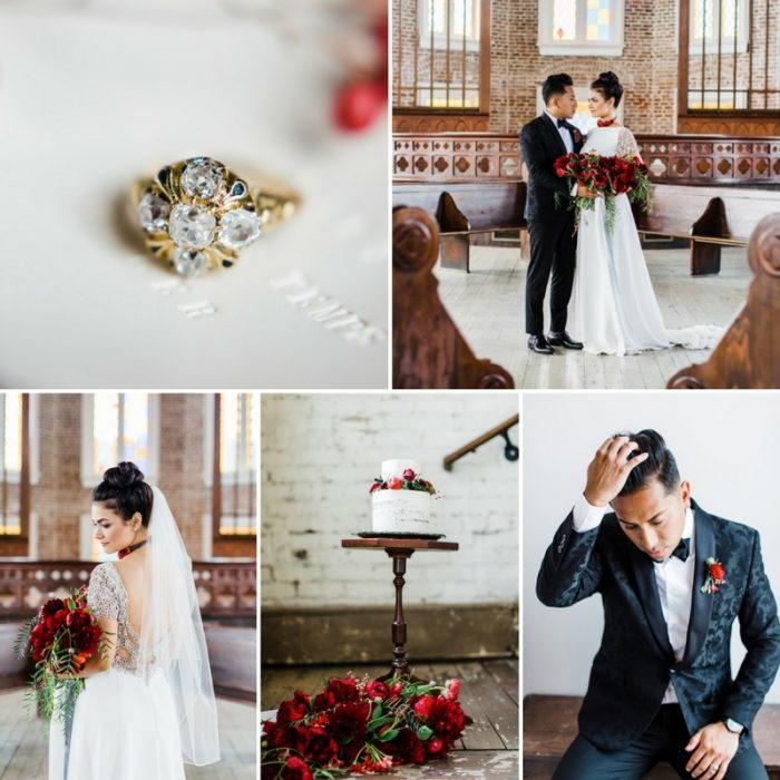 Felicity Church Valentines Day Wedding Inspiration