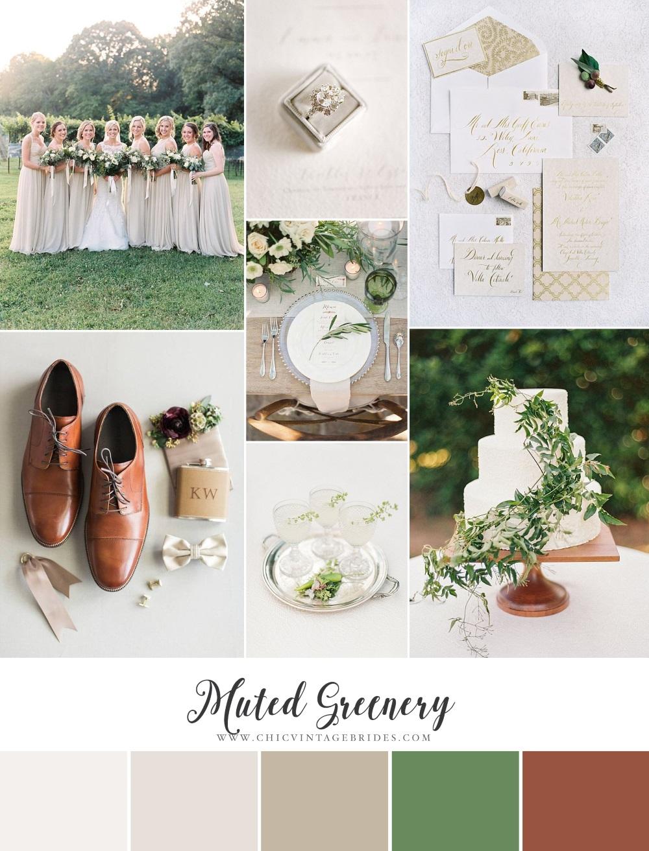 Muted Greenery - Wedding Inspiration Board