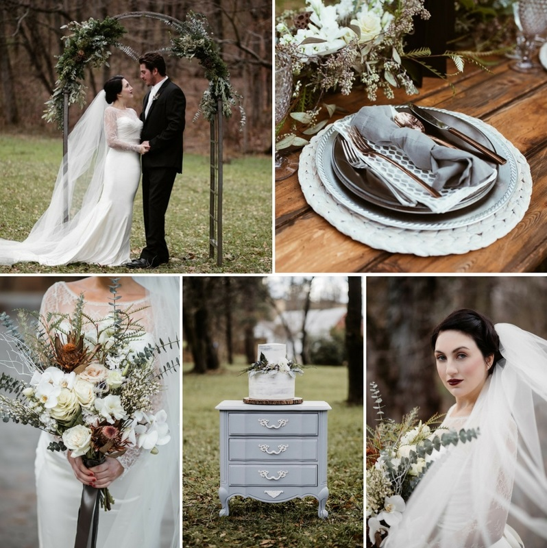 Scandi Vintage Winter Wedding Inspiration Shoot