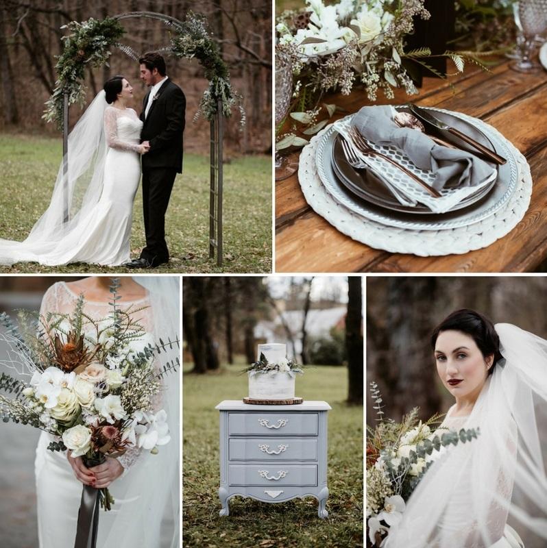 Scandi Vintage Winter Wedding Inspiration Shoot