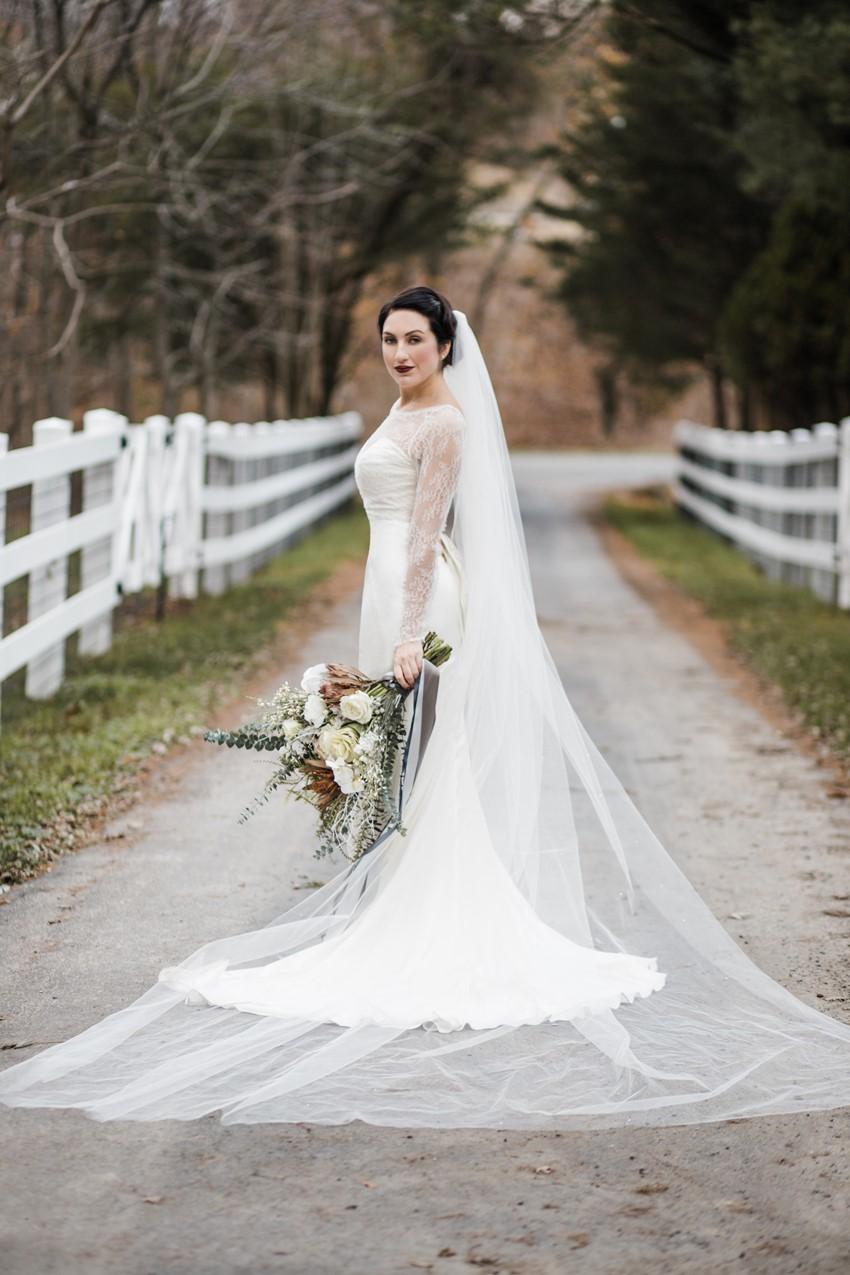 Vintage Winter Bridal Look