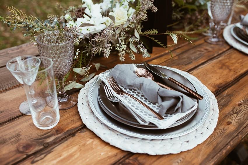 Scandi Winter Wedding Place Setting