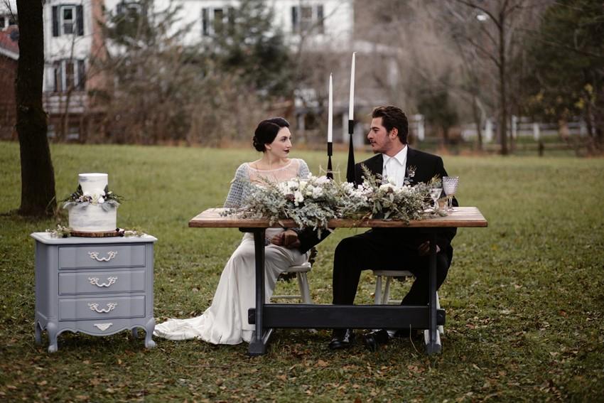 Scandi Wedding Sweetheart Table