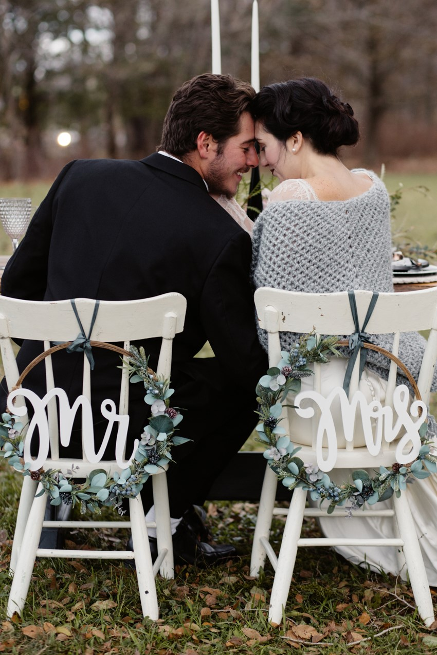 Scandi Winter Wedding Chairs