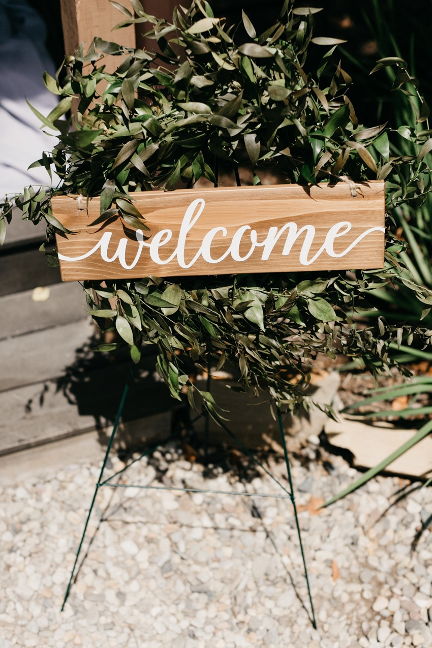 Greenery Wedding Welcome Sign