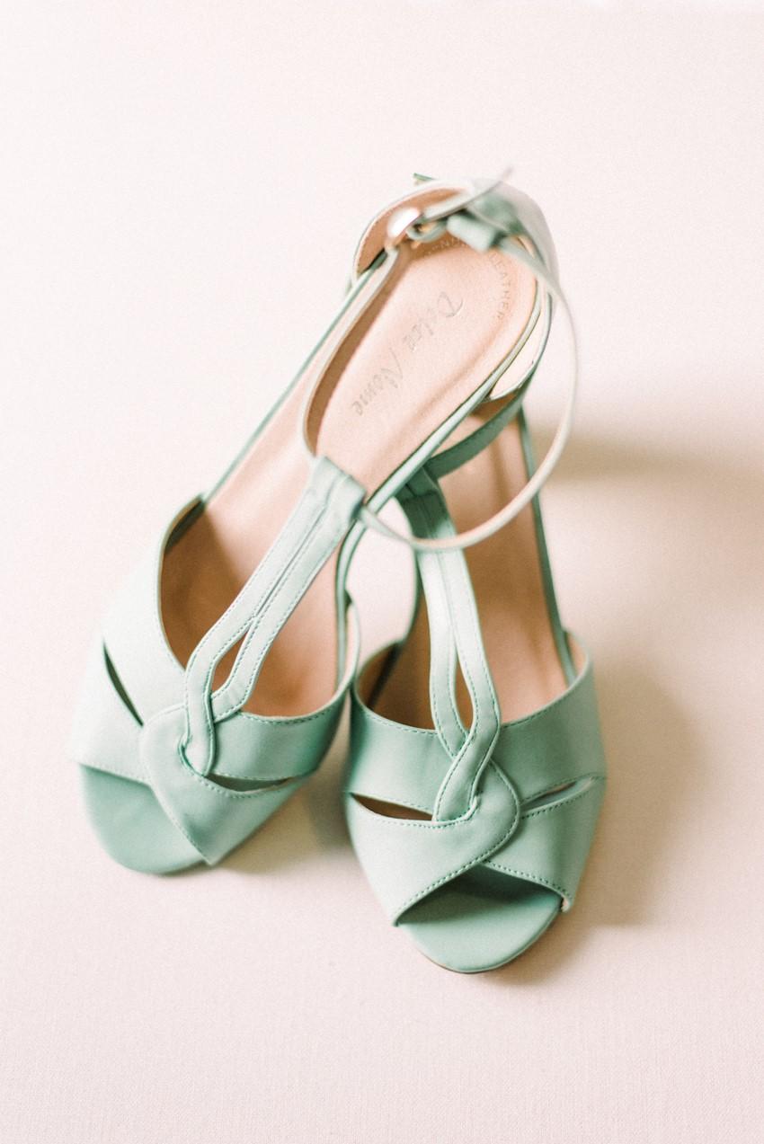 Mint Vintage Bridal Shoes