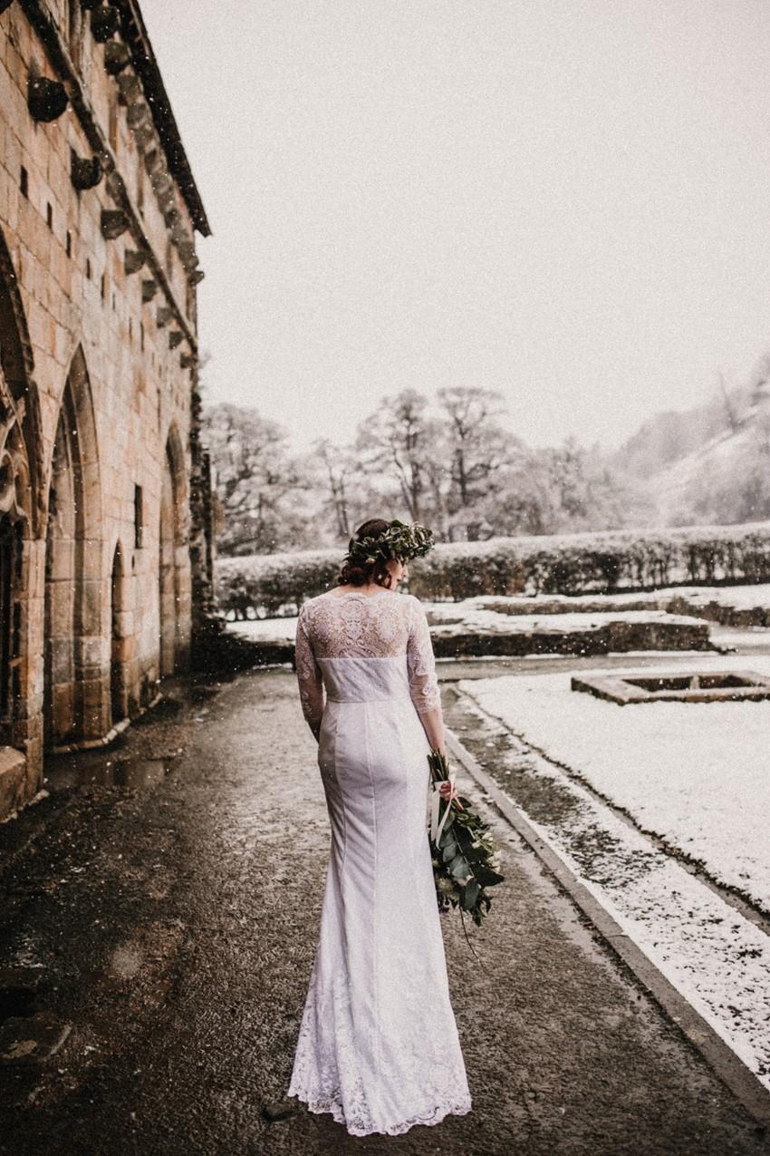 Long Sleeved Winter Wedding Dress