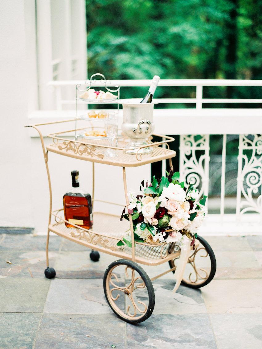 Wedding Whiskey Cart