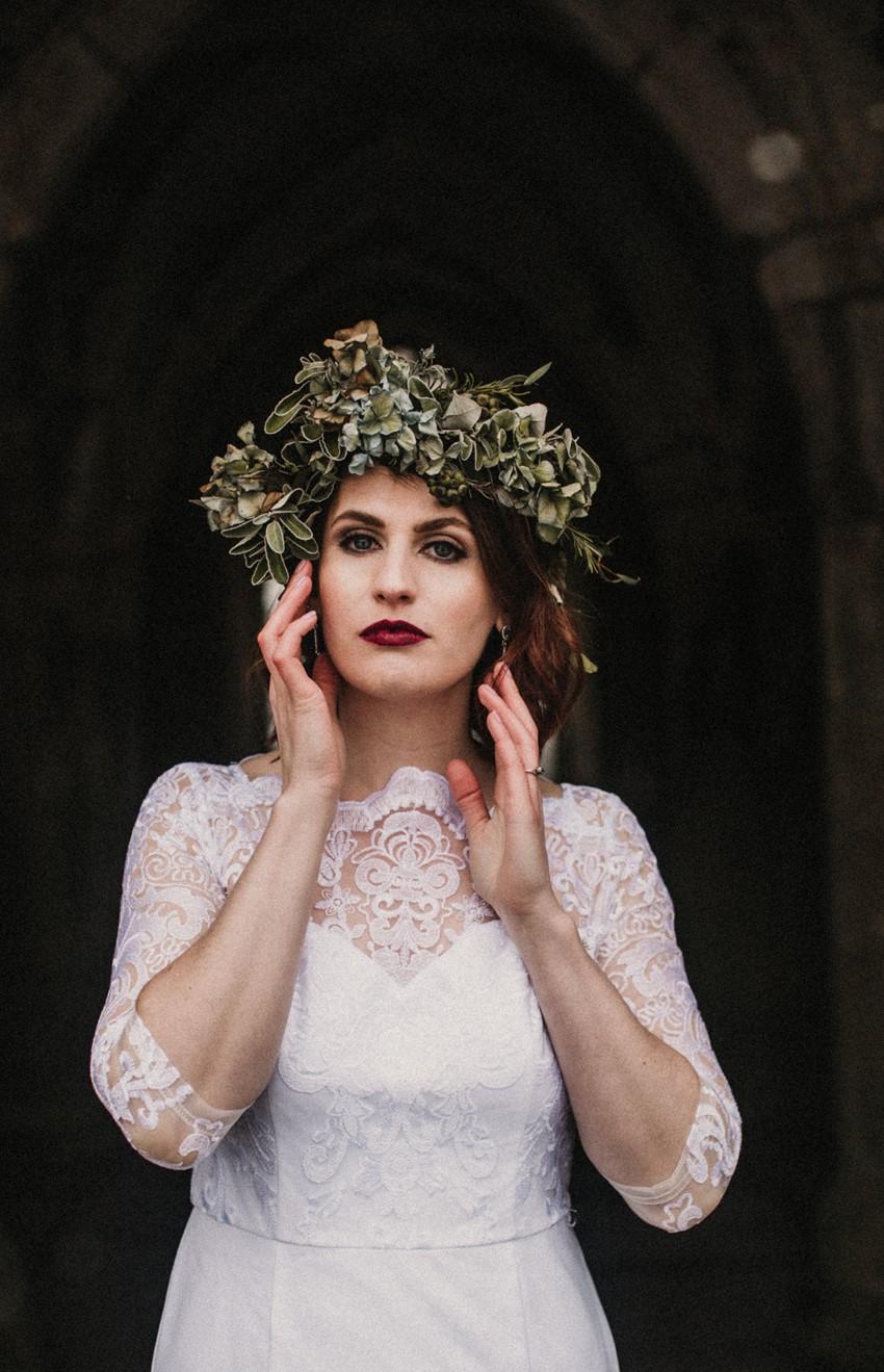 Winter Bridal Flower Crown