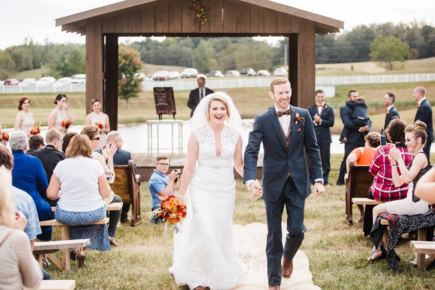 Rustic Vintage Wedding Ceremony