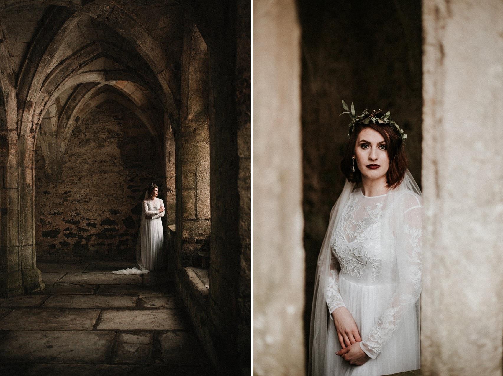 Winter Bridal Shoot at an English Abbey