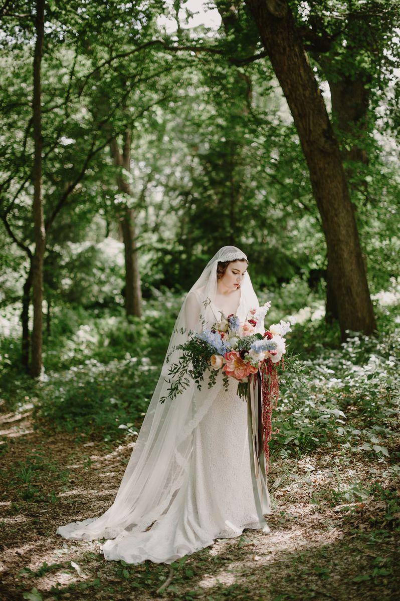 Vintage Bride & Bouquet