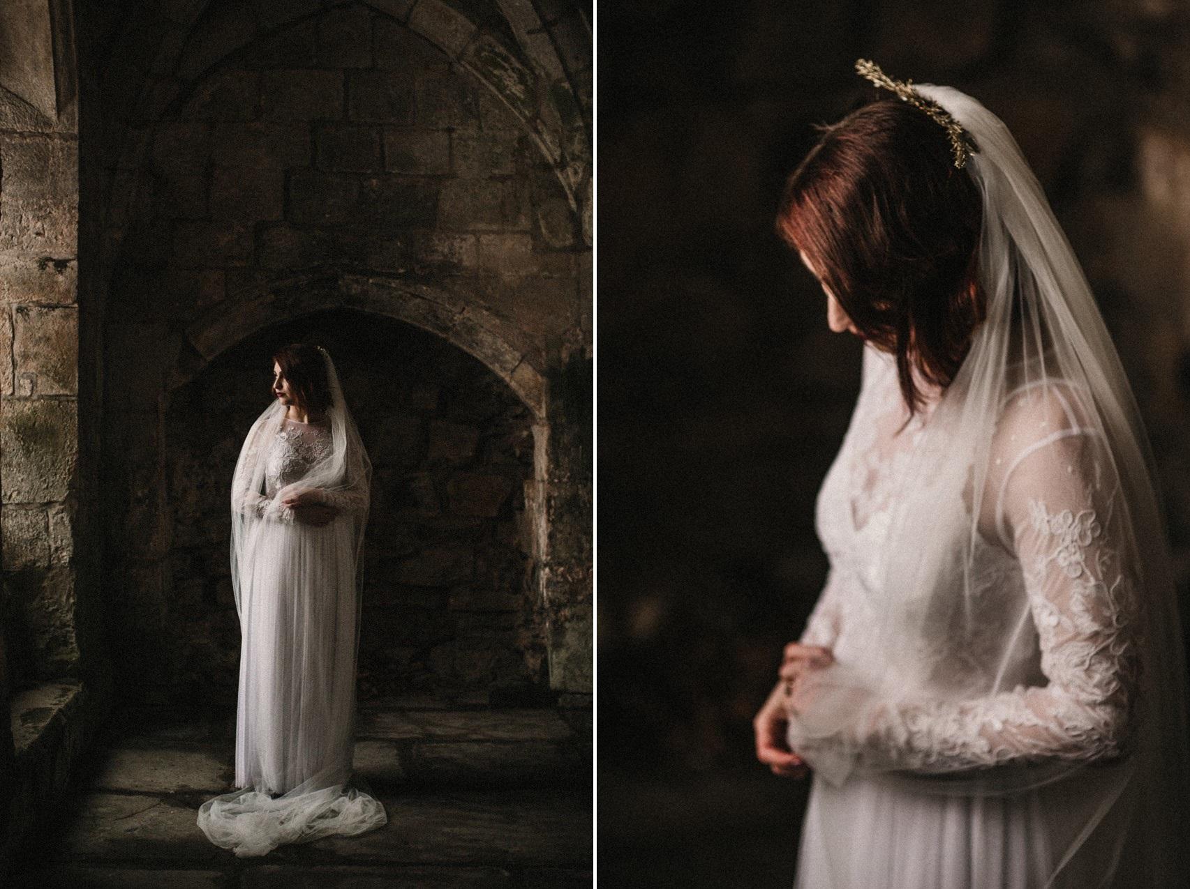Valle Crucis Abbey Llangollen Bridal Shoot