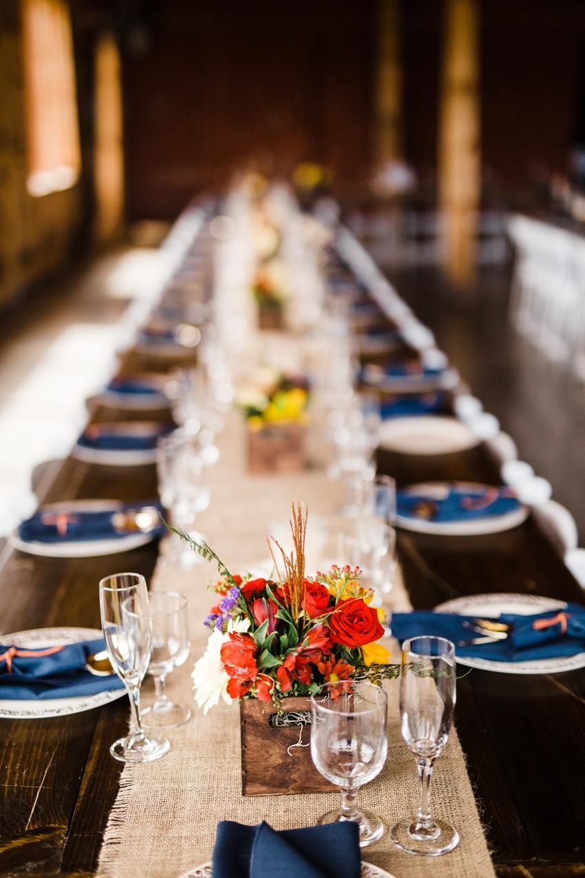 Rustic Vintage Wedding Barn Reception