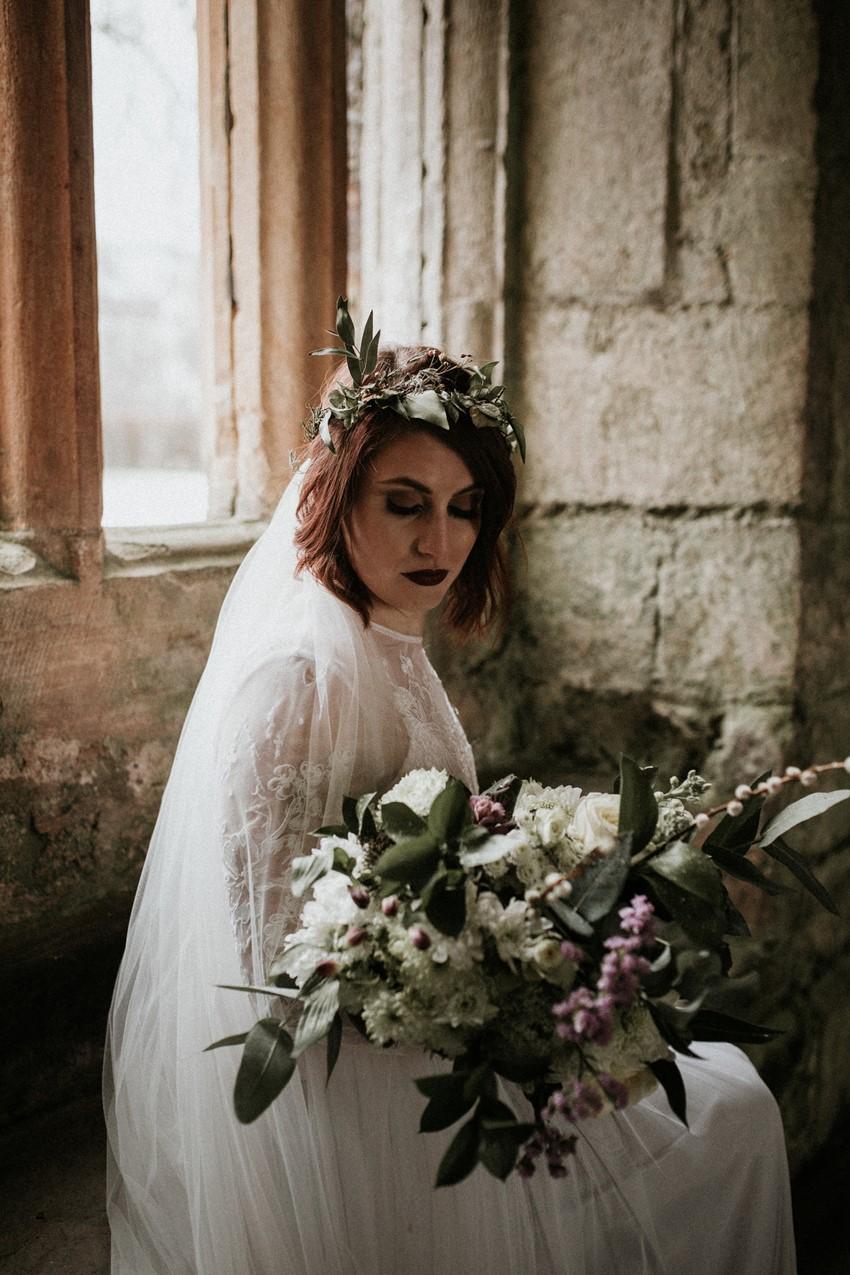 Vintage Bridal Shoot at an English Abbey